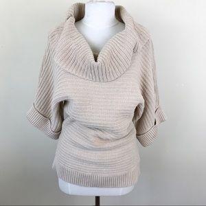 White House Black Market Chunky Cowel Sweater Med